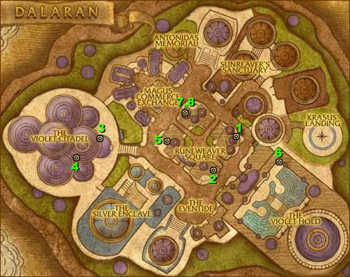Map of Dalaran - Higher Achievement Books