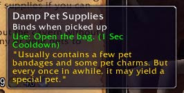 Damp Pet Supplies reward bag