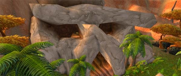 Skull entrance outside Wailing Caverns