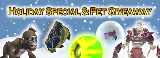 WoWTCGLoot Holiday Specials and WarcraftPets Giveaways