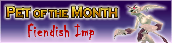 Fiendish Imp - Pet of the Month October 2016