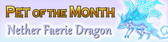 Nether Faerie Dragon - Pet of the Month January 2017