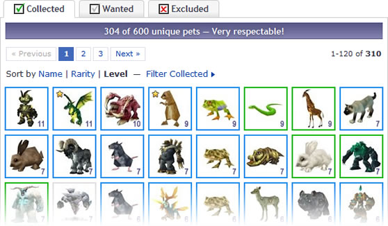 Sortable Pet Collections