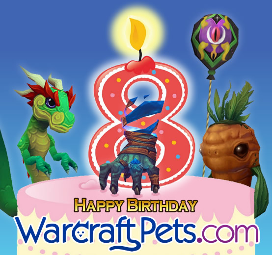 WarcraftPets Turns 8, celebrating eight great years!