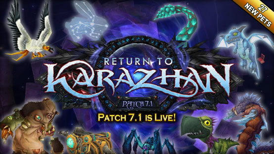 Patch 7.1 - 27 new pets