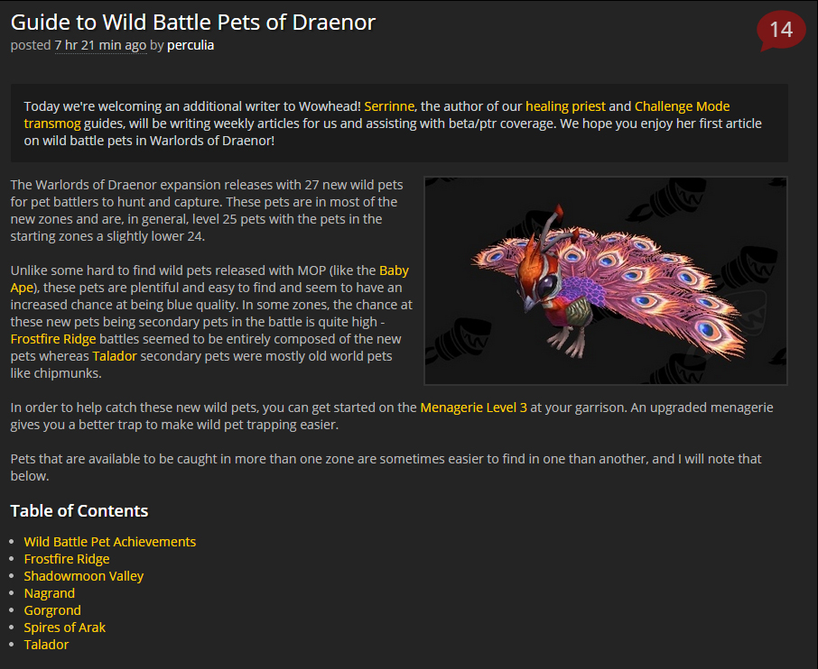 Wowhead guide to Draenor wild pets