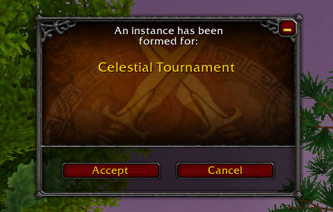 Celestial Tournament Queue window
