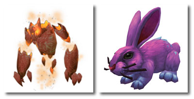 Igneus Flameling and Noblegarden Bunny
