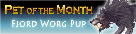 Fjord Worg Pup - Pet of the Month: December 2015