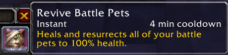 Reduced cooldown on Revive Battle Pets