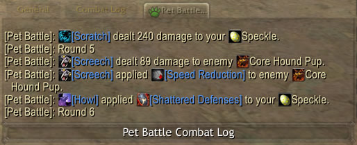 Pet Battle Combat Log