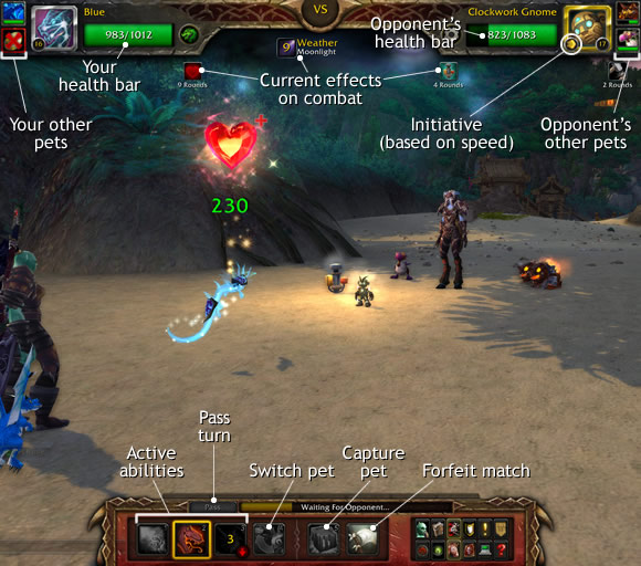 Pet Battle UI