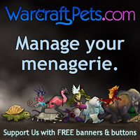 WarcraftPets banners and butto